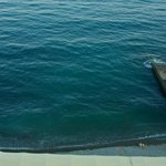 Livadiyskiy: the beach right under the balcony