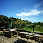 View from the outside deck of Piha Cafe