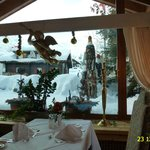 VIEW OF MAIN RESTAURANT IN FERIENART RESORT & SPA SAAS-FEE, DECEMBER 2012.