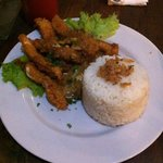 chicken strip with rice 35k