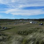  View of the campsite from the sand dunes