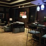 Hotel suite living/bar area