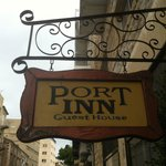The Port Inn entry sign