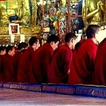  The monks reciting their prayers