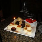  Typical desert fixins&#39; with a candle added for my birthday :)