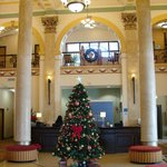  Charming Lobby Decorated for Chriswtmas