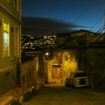 Valparaiso at night: around the corner from the B&B