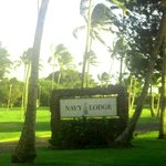 Entering the Navy Lodge area