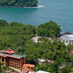 Aerial photo Hotel San Bada. Borders the National Park and is 150mts close to the public beach