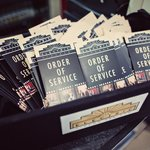  Personalised Order of Service Cards