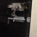 lock on bathroom door!