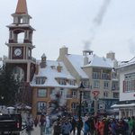 The ski resort of Mont Tremblant nearby was heaving with people