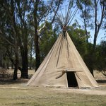 One of the teepees on the grounds