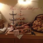 Selection of breads at breakfast