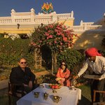 High Tea in front of the Kanker Palace