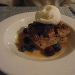 Bread Pudding with Vanilla Ice Cream