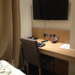 Desk and foot of cot in Room L6