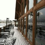  Deck for dining when it is not snowing.