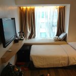 Though small, the room is really pleasant and comfortable.