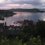 Sunset over Oban, from McCaig's Tower