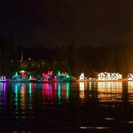 Lights reflected in the lake