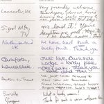 Visitors book extract