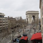  View of Arc de Triomphe from the room