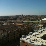  view overlooking beautiful Texas Tech campus from Preferred-Level room.