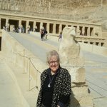 Mum outside Queen Hapshetsut's Funerary Temple -she managed those steps with a few rests