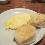  Eggs and fresh biscuits on New Years morning. Delicious!