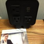 cool bed side charging station usb ports and multiple outlets
