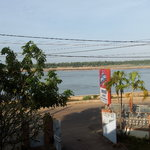 from the balcony, facing the river