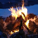  Fire and a beer lake side.
