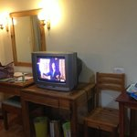 TV from Deluxe Room Old CRT TV but it has cable