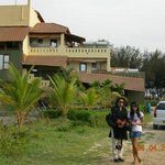 The Hotel Building where we stayed (wife & daughter in pic)