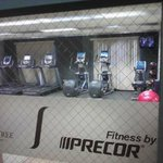 Precor fitness machines in new gym
