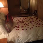 the wedding package - champagne, rose petals and hotel chocolat chocolates x