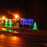 The Christmas lights in Pigeon Forge