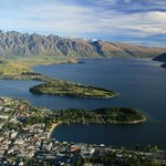  Queenstown from top of hill on Gondola ride
