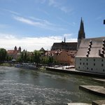  Blick zurck auf Regensburg