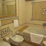 mosaic tiled bathroom