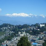  View of Darjeeling and Kanchengunga from rooftop