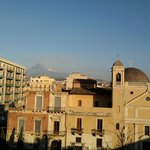  The view at Etna (from a balcony of Ccly Hostel)