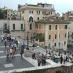 view of the Spanish Steps for our room