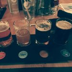 A beer flight at CPB