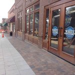 Brewery entrance as seen from recently refurbished sidewalks of White St.