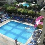 1 of the pools with a slide