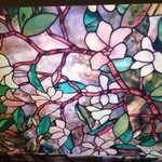 Stained glass window in Room 318