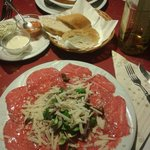 Carpaccio and Gulash Suppe