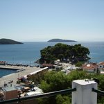 view from clock tower skiathos